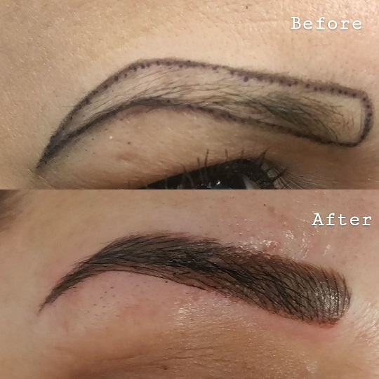 filled in eyebrow