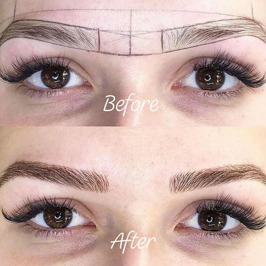 shaded eyebrows