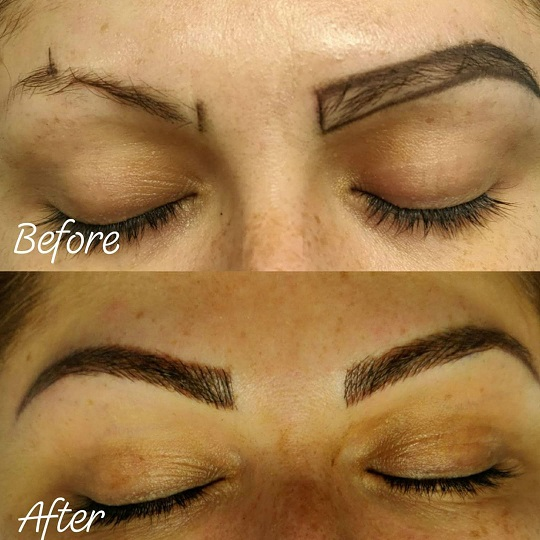 before and after eyebrows