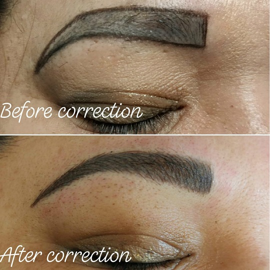 feather eyebrows